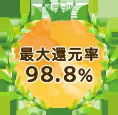 最大還元率 98.8%